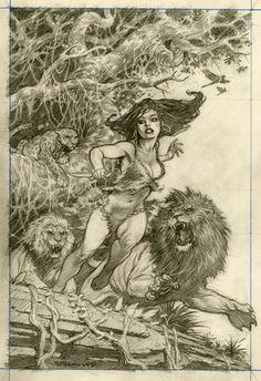 Jungle Girl by Mark Schultz