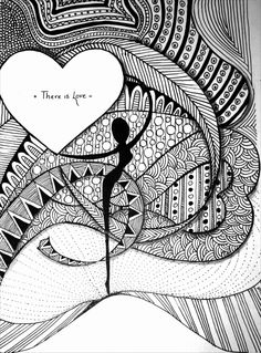 Zentangle Expressions: Zentangle- There is Love
