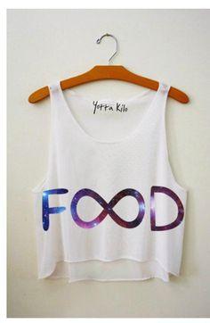 Galaxy Food Infinity Shirt.
