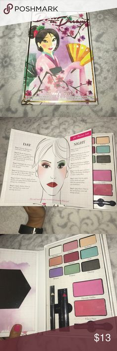 Limited Edition Disney Mulan Elf Make-up Pallette Limited Edition Disney Mulan Elf Make-up Pallette. Like New: Used once to check out the colors. Lipstick and eyeliner are brand new. ELF Makeup