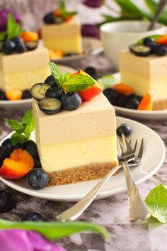 Polish Recipes, Polish Food, Cheesecakes, No Bake Cake, Deserts, Food And Drink, Cooking Recipes, Pudding, Sweets