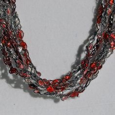 Handmade in Texas!!  SALE  Peppermint Ice  Hand Crocheted Necklace by CrimsonCactus, $8.00
