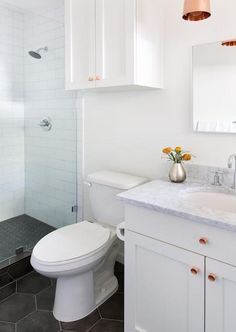 We spent a good almost four years dreaming up our master bathroom renovation in Los Angeles before finally pulling the trigger. It wasn't that it took us all of that time to make tile decisions, but rather way-less-fun-but-more-practical projects kept taking the place of the bathroom project in our renovation budget. Now, here in Austin, …
