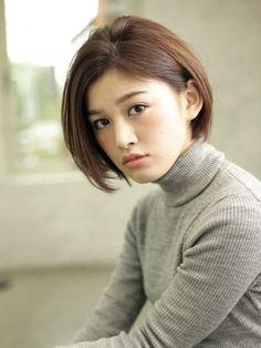 Cute short haircut for young women.