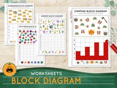 Excited to share this item from my #etsy shop: MATH worksheets - Block Diagram Year 2 counting activities Homeschool Busy binder Back to School printables Teaching tools School supplies