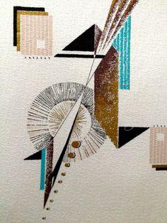 Eames Atomic Barkcloth Fabric //Mid Century Modern by KimberlyZ