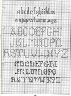 Cross-stitch alphabet chart