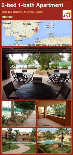 2-bed 1-bath Apartment in Mar De Cristal, Murcia, Spain ►€88,900 #PropertyForSaleInSpain