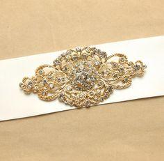 Vintage Style Design Glass Crystal Rhinestone Wedding Bridal Dress Sash Ribbon Belt BRH00447