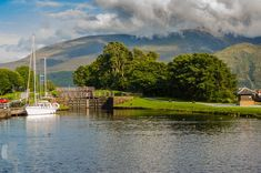 Cycling and Sailing in Scotland - Caledonian Canal