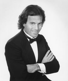 Julio Iglesias. No matter the age or the era, black tie is always a good choice and Julio wore it well!