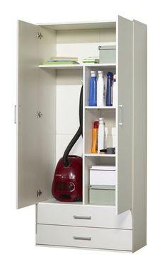 NEU! Staubsauger/Besenschrank Mehrzweckschrank Putzschrank Hochschrank weiß Tall Cabinet Storage, Locker Storage, Home Alone, Organization Hacks, Organizing, Cupboard, Laundry Room, Diy And Crafts, Home Appliances