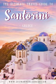 Are you dreaming of visiting Santorini? Click here to find out everything you need to know before visiting this beautiful Greek Island including where to stay, how to get there and what to do! #santorini #greece #europe #greekisland | First timer's guide to Santorini | Santorini travel guide for beginners | Visiting Santorini for the first time | Best things to do in Santorini | Where to stay on Santorini | How to get to Santorini | Most famous Greek Island | Places to see in Santorini