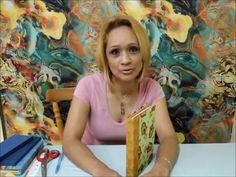 ENCADERNAÇÃO ARTESANAL GABARITO DE Nº 17 - YouTube