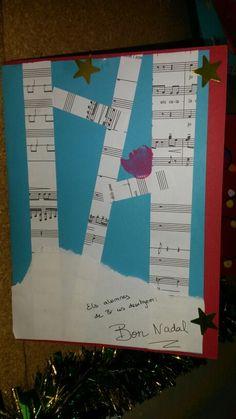 Postal de nadal de la classe dels músics