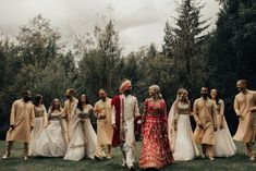 This three-day multicultural wedding celebration included Western and Sikh wedding ceremonies packed full of love and tradition | Image by Nomad by NK Sikh Wedding, Wedding Blog, Fall Wedding, Wedding Ceremony, Wedding Ideas, Multicultural Wedding, Bridesmaid Dresses, Wedding Dresses, Celebrity Weddings