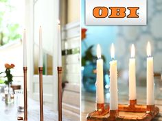 Ob Du Dich für den niedrigen Kerzenhalter für vier Kerzen, die hohe Variante für drei Kerzen oder eine Kombination aus beidem entscheidest – die vorgefertigten T-Stücke und Winkel öffnen auch Selbstbauanfängern viele Möglichkeiten für ein erfolgreiches Projekt.
