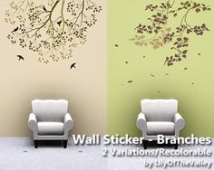 This wall sticker includes 2 recolorable variations:  Found in TSR Category 'Paintings & Posters'