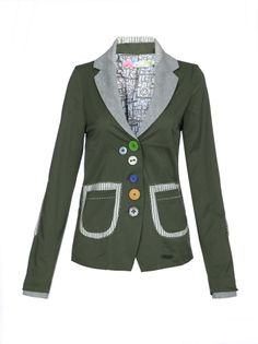 31e2919 2014 desigual women's spring veste coats and jacket top patchwork female outerwear army green woman women's 36 40 42 44 $59.99