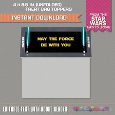 Star Wars Small Treat Bag Toppers Star Wars by PartyPrintables2go