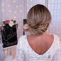 Short Hair Makeup, Hairdo For Long Hair, Blonde Hair Makeup, Updos For Thin Hair, Hair Up Styles, Medium Hair Styles, Braided Hairstyles, Wedding Hairstyles, Easy Hairstyle