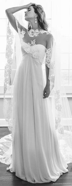 alessandra rinaudo 2018 bridal strapless sweetheart neckline ruched bodice elegant empire wedding dress with caplet chapel train (45) mv -- Alessandra Rinaudo 2018 Wedding Dresses
