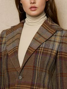 A bold yet understated plaid. I love Ralph Lauren's fall collection!