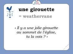 Le mot du jour : « une girouette » [yn ʒiʀwɛt] #learnfrench #WordOfTheDay #LesMachin #fle Les Machin  (@Les_Machin) | Twitter