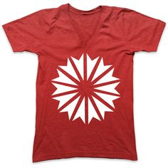 Starlight V-Neck - Red + White