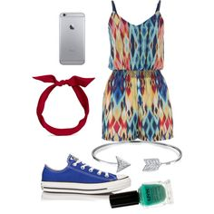 Summer! by margaretinmotion on Polyvore featuring polyvore, beauty, NYX, yunotme, Bling Jewelry, maurices and Converse