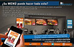 Menú Digital Interactivo - fácil, flexible y a la medida ~ IMVINET - Digital Signage - Señalizacion Digital