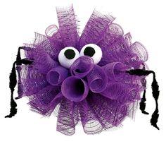 Nicole™ Crafts Deco Mesh Spider #decomesh  #halloween #craft