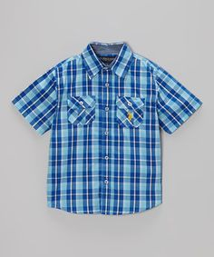a2fbdd03a760f U.S. Polo Assn. Horizon Blue Plaid Button-Up - Toddler   Boys