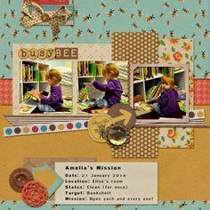 Desirae-Nicole | Amelia - Busy Bee - Calvinball - Gallery - Get It Scrapped
