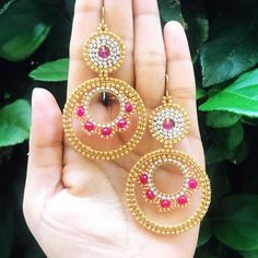 Beaded Earrings, Crochet Earrings, Drop Earrings, Bead Jewellery, Brick Stitch, Jewerly, Pink, Projects To Try, Fashion Jewelry