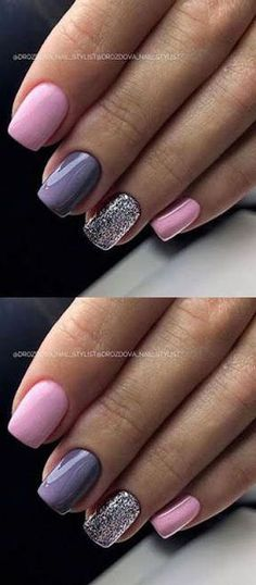 45 Cute and Awesome Acrylic Nails Design Ideas for Any Season Just double click . Acrylic Nail Designs, Nail Art Designs, Acrylic Nails, Nails Design, Fancy Nails, Pretty Nails, Ten Nails, Pink Nail Art, Bright Nails