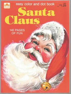 Vintage Childrens Christmas Coloring Book Santa Claus Unused
