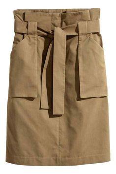 Cargo skirt - Khaki - H&M HU