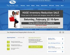 Northgate Mall:  2013 website redesign to include an improved user interface, clean design and interactive store directory. DesignHammer | Building Smarter Websites