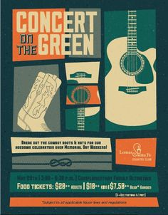 Concert on the green event flyer poster template