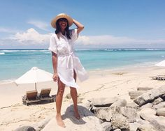 Exploring deserted Pandawa Beach in local linen label @LaConfection exclusively sold at one of our favourite Seminyak boutiques @TropicanaBali  Photo Via @nicoleadolphe #Pandawabeach #Tropicanabali #bali #balishopping #seminyak #oberoi #laconfection #linen #ootd #ubud #nusadua #uluwatu #resortwear #thebalibible #mybalibible #balifashion #shirtdress #balibible by thebalibible