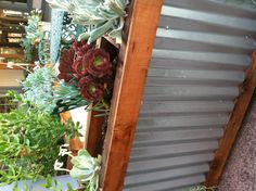 Corrugated metal planter box