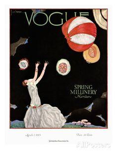 Vogue Cover - March 1925 Regular Giclee Print van Georges Lepape bij AllPosters.nl