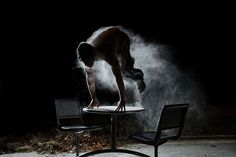 The Beauty of Parkour Photographed with a Flash and Some Flour