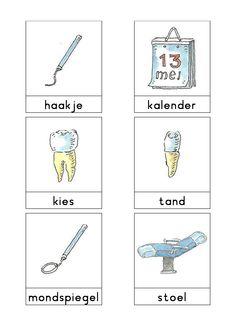 Woordkaart 'Bas en tandarts'