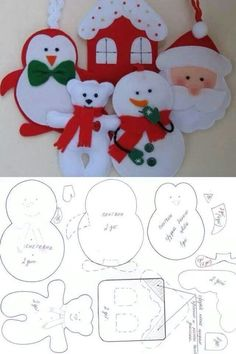 Risultati immagini per moldes de natal Christmas Projects, Felt Crafts, Holiday Crafts, Felt Christmas Decorations, Felt Christmas Ornaments, Tree Decorations, Christmas Sewing, Handmade Christmas, Christmas Makes