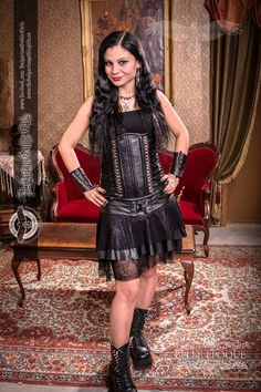 Denitsa Slaveva - Official Model of Bulgarian Gothic Girls since 2012 Photographer: Retro photo Belle Epoque  Corset|Dress|Boots: Магазин Avangardbg.com - HandMade  #BulgarianGothicGirls #GothicModels #Gothic #GothicGirls #GothGirls #BulgrianBeauty #Bulgaria #Beauty