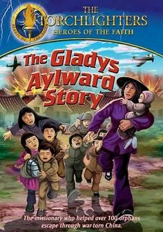 Netflix....  The Torchlighters: The Gladys Aylward Story (2008) Wounded while working in war-torn China, Canadian missionary Gladys Aylward must ignore her own pain and draw on her deepest faith and determination to guide 100 orphaned children on a 100-mile journey to safety.   ***Reminder to check for other titles***