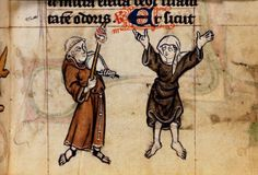 A medieval nun lifting her skirt.  Medieval Germany: Cistercians and Women. ~S  #women #medieval