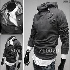 High Collar Jacket Men Hooded Jacket Men's Fashion Sweater Men Shearling Jacket